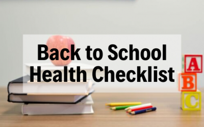 Back To School Health Checklist